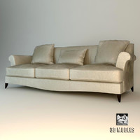 baker sofa sensei 3d model