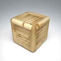 wooden box obj