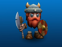 smoo viking character 3d model