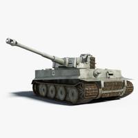panzerkampfwagen vi tiger pzkpfw 3d model