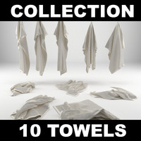 towels realistic 3d model