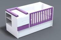 baby crib 3d 3ds