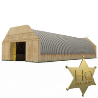 3d model military hangar