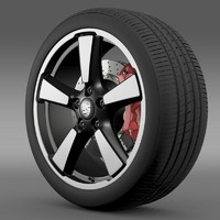 porsche 911 50yeareditions wheel 3ds