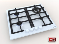 3d model gorenje gas hob