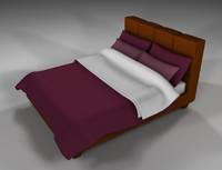 modern bed sheet c4d