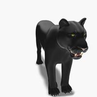 feline panther cat 3d max
