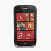 3d model of nokia lumia 822 grey