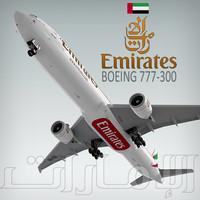 lightwave boeing 777-300 plane emirates