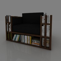 3d armchair book model