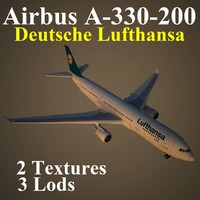 3d model airbus dlh