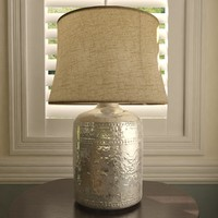 Marley Antique Chrome Table Lamp