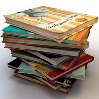 3d model books stacks