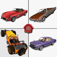 retro cars 15 3d model