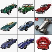 retro cars 18 3d model