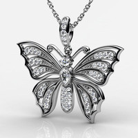 butterfly gold 3d obj