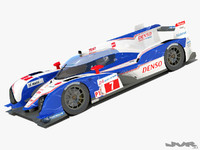 3ds max toyota ts030 lemans 2012