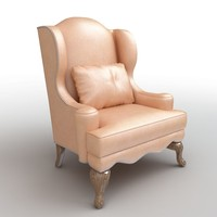armchair club throw 3d max