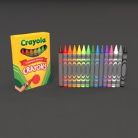 3d crayon colors