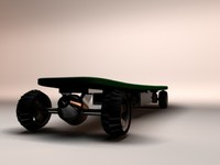 3d concept skateboard model