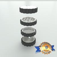 titanium grinder 3d max