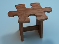 3d puzzle chair model