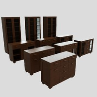 3d furnitures solid wood