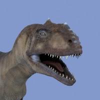 obj majungasaurus dinosaur