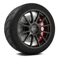 3d model volk racing g12 wheel