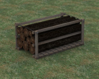 old style lumber storage unit 3d obj