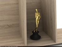 golden award statue woman human 3d 3ds