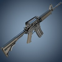 3d m4a1 assault rifle model
