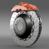 3d model brake brakedisc brembo