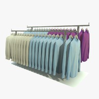 3d custom mens shirt rack model