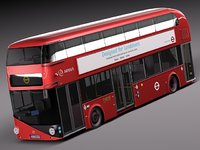 3d 2010 bus london lt2