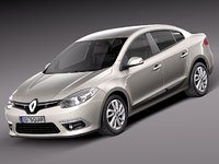 3ds max 2013 sedan renault fluence