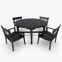 garden set - 3d 3ds