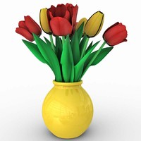 tulip scanline 3d model