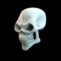 c4d scary skull