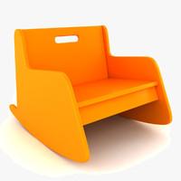 3d child rocking chair