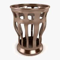 3d 3ds grid vase
