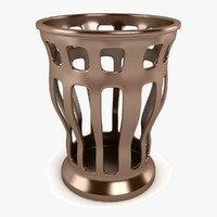 3d grid vase