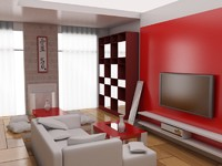 3d modern interior