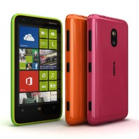 Nokia Lumia 620 Green-Orange-Magenta