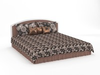 luxury bed 3d model