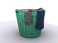 laundry clothing basket 3d model