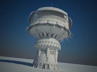 maya futuristic sci fi building