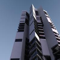 3d building futuristic modern