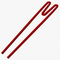 3d model kids chopsticks