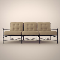 restoration catalina sofa chair 3d model